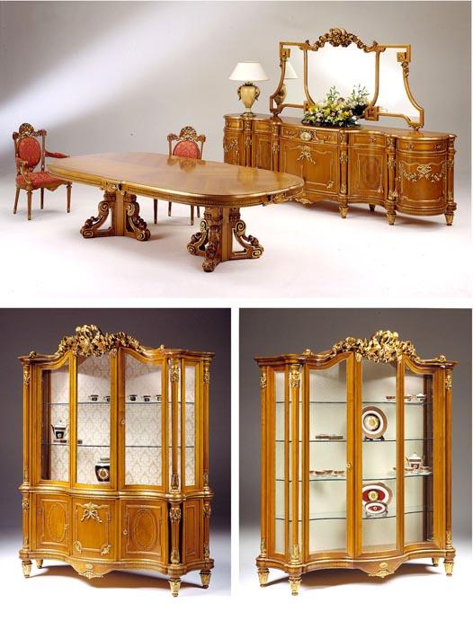 Sala da pranzo in stile francese Trianon | Esposizione Artigiani ...