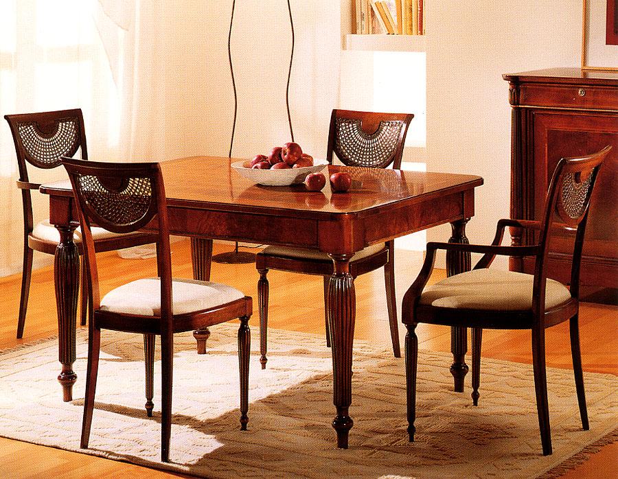 Tavolo e sedie diana esposizione artigiani medesi meda for Sedie da tavolo pranzo