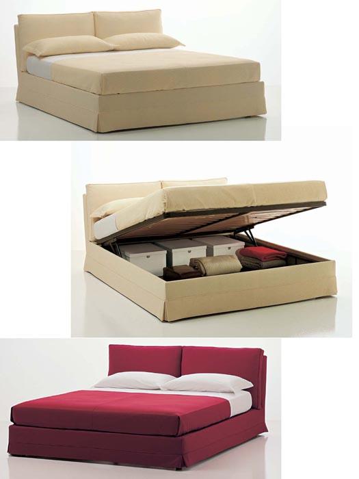 Letto in tessuto con cassone contenitore - Letto contenitore tessuto ...