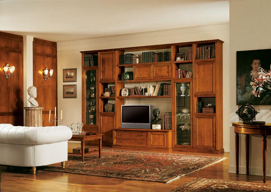 Libreria stile neoclassico guinette esposizione for Arredamento arte povera soggiorno