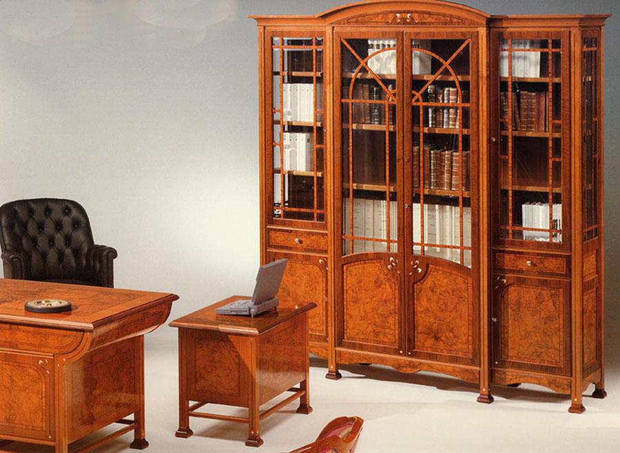 Libreria vetrina liberty ducrot esposizione artigiani for Mobili d epoca