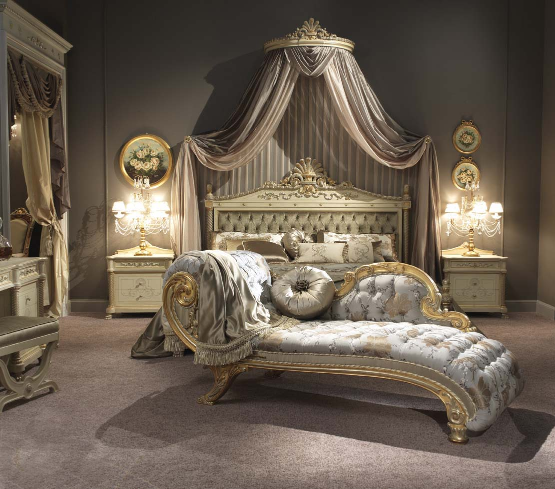 Camera letto pavone laccata - Letto stile impero ...
