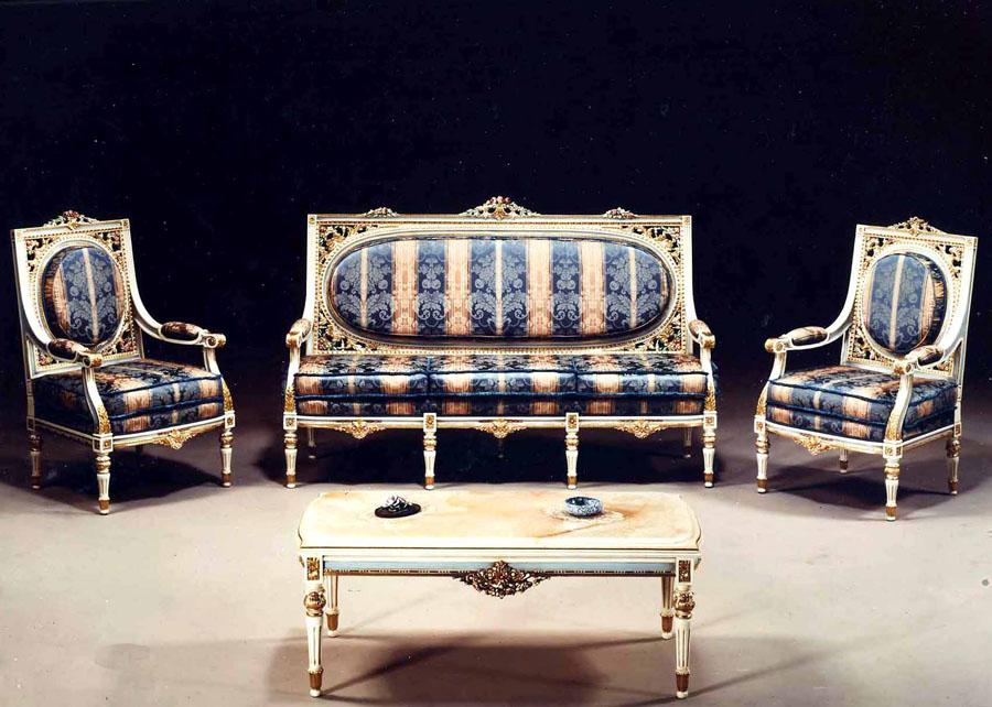 Salotto in stile Luigi XVI Loira | Esposizione Artigiani Medesi ...
