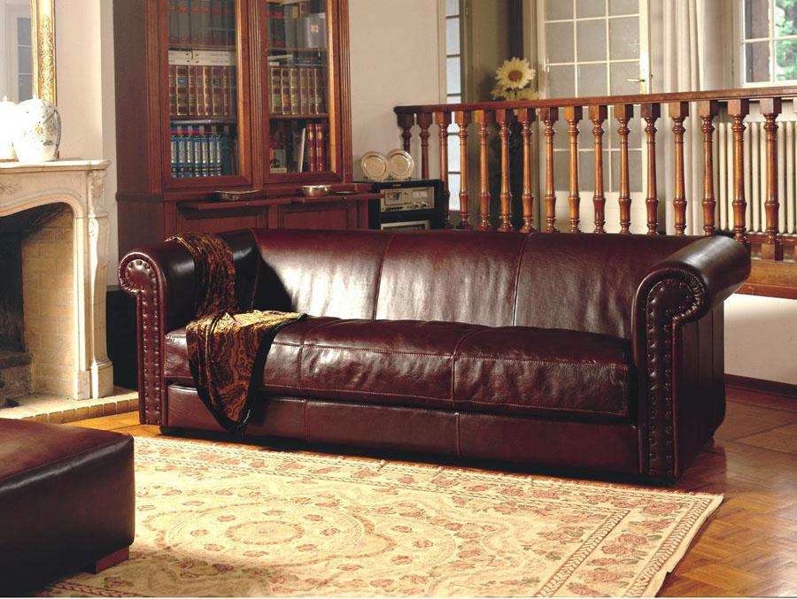 divano in pelle stile inglese william esposizione